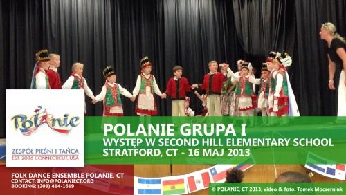Występ najmłodszych grup Polan w Szkole w Stratford